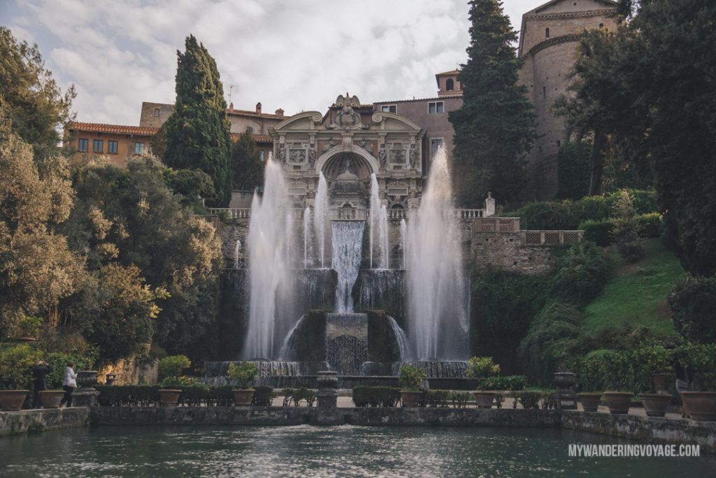 Villa d'Este fountain of Neptune | Visit UNESCO World Heritage Sites Villa Adriana and Villa d'Este in a day trip to Tivoli, Italy, a mountainside town about 30 kilometres from Rome. | My Wandering Voyage travel blog #rome #italy #travel #UNESCO