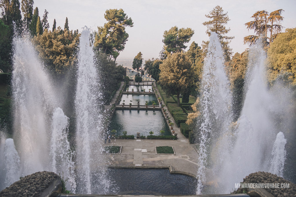 Villa d'Este Fountain of Neptune from above | Visit UNESCO World Heritage Sites Villa Adriana and Villa d'Este in a day trip to Tivoli, Italy, a mountainside town about 30 kilometres from Rome. | My Wandering Voyage travel blog #rome #italy #travel #UNESCO