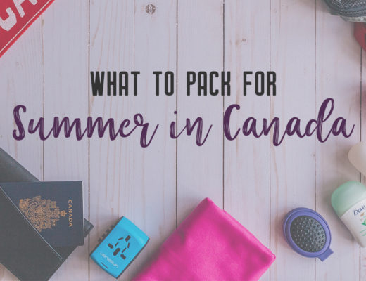 In Canada, summer temperatures range from coast to coast to coast. It can be hard to know what to pack for Canada in summer. This guide will help. #packingguide #packinglist #summertravel #travel #Canada