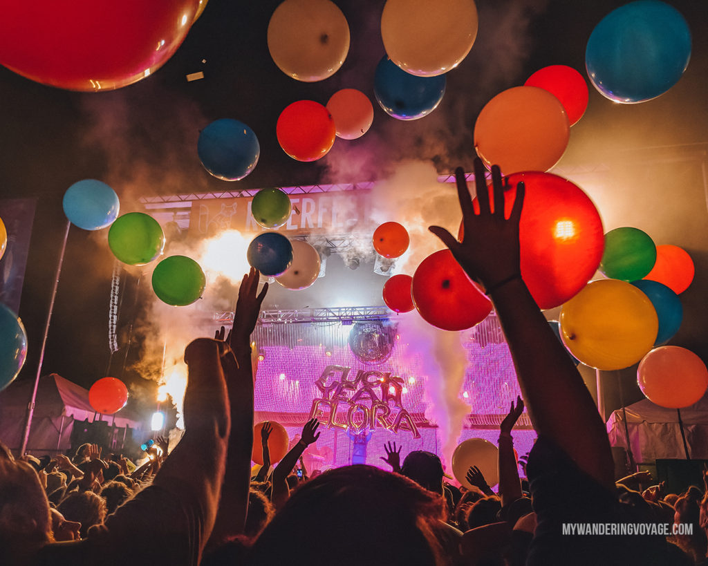Bright and colourful photo of Riverfest Elora music festival | With the powerful device in your pocket you can take incredible photos of your travels. Here is the ultimate guide to smartphone travel photography. | My Wandering Voyage travel blog #travel #photography #tips #travelphotography #smartphonephotography
