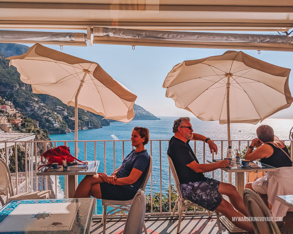 Amalfi coast patio | With the powerful device in your pocket you can take incredible photos of your travels. Here is the ultimate guide to smartphone travel photography. | My Wandering Voyage travel blog #travel #photography #tips #travelphotography #smartphonephotography