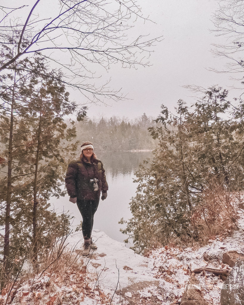 Crawford Lake, Winter | Are you an explorer? A foodie? Or how about a beach bum? There's something for everyone in this list of fantastic day trips from Toronto | My Wandering Voyage travel blog #toronto #ontario #canada #ontariotravel #travel