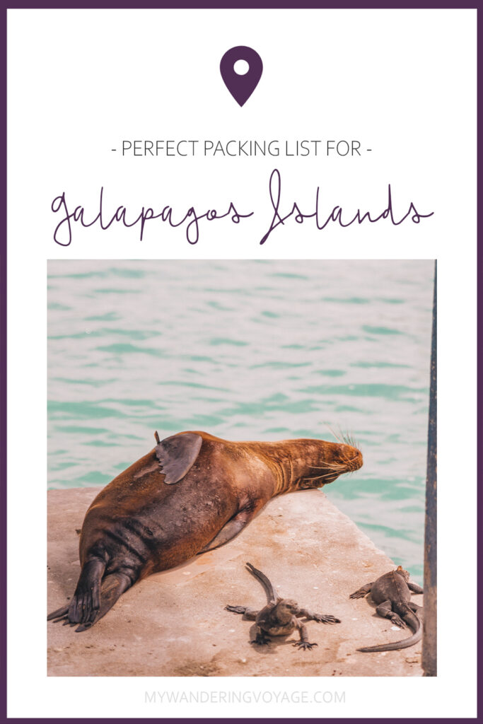 What to pack for the Galapagos Islands. Find out what to bring, what to leave at home, when the best time to visit the Galapagos Islands is, and other tips in this Galapagos packing list. | My Wandering Voyage travel blog #travel #galapagos #galapagosislands #packinglist