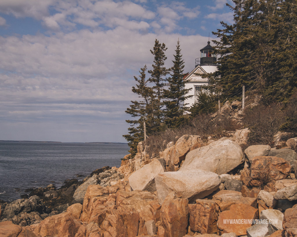 Bass Harbor Lighthouse | This New England road trip itinerary will take you on the scenic route from Boston to Portland, Mid Coast Maine and Acadia National Park. | My Wandering Voyage #Boston #Portland #Maine #travel
