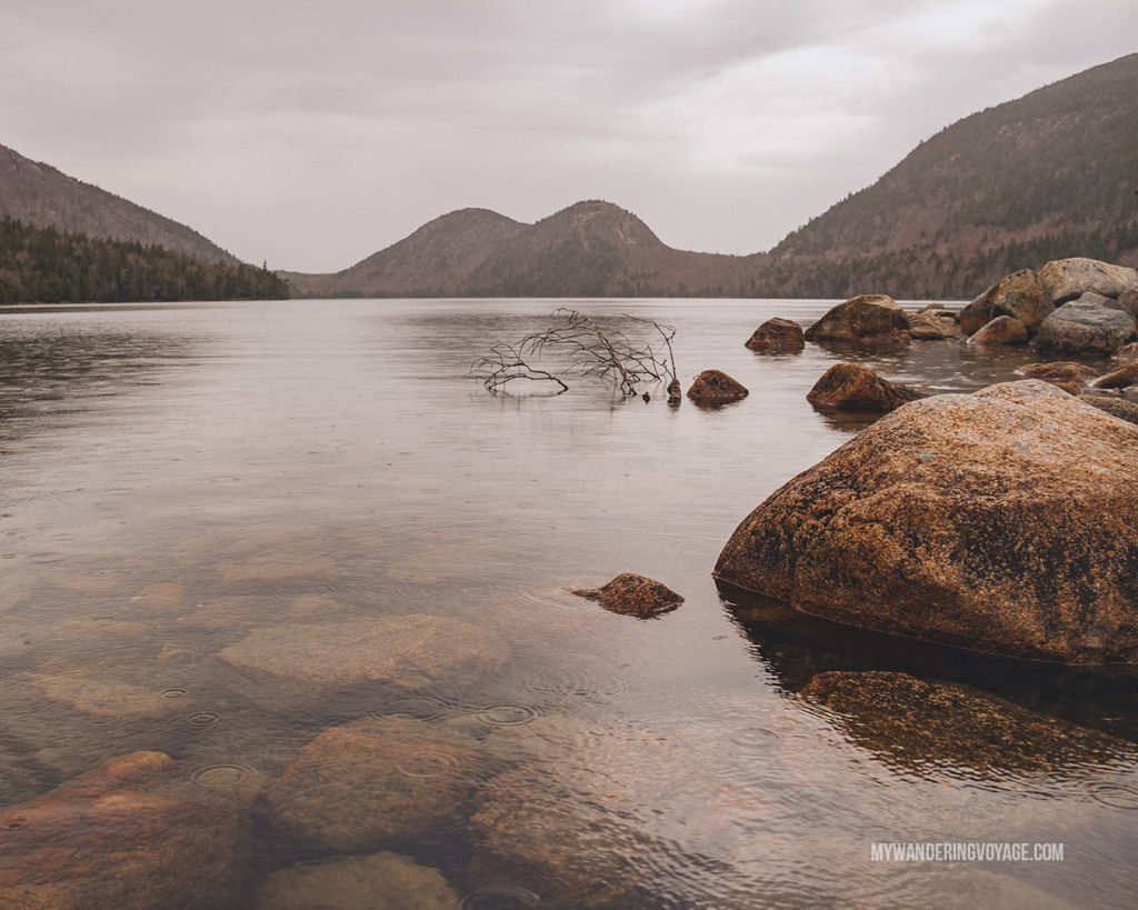 Jordan Pond, Acadia National Park | This New England road trip itinerary will take you on the scenic route from Boston to Portland, Mid Coast Maine and Acadia National Park. | My Wandering Voyage #Boston #Portland #Maine #travel