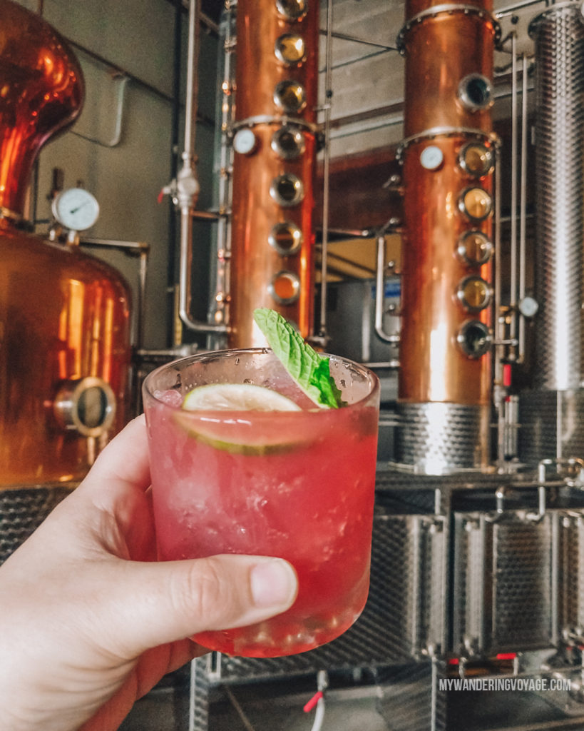 Hardshore Distillery, Portland, Maine   This New England road trip itinerary will take you on the scenic route from Boston to Portland, Mid Coast Maine and Acadia National Park.   My Wandering Voyage #Boston #Portland #Maine #travel