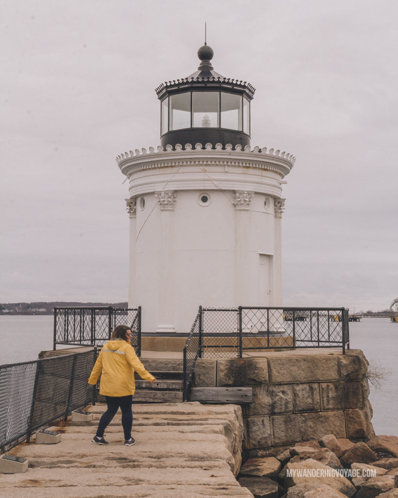 Bug Light, Portland | This New England road trip itinerary will take you on the scenic route from Boston to Portland, Mid Coast Maine and Acadia National Park. | My Wandering Voyage #Boston #Portland #Maine #travel