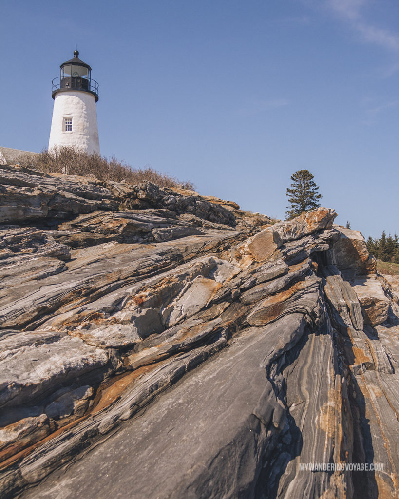 Pemaquid Lighthouse, Maine | This New England road trip itinerary will take you on the scenic route from Boston to Portland, Mid Coast Maine and Acadia National Park. | My Wandering Voyage #Boston #Portland #Maine #travel