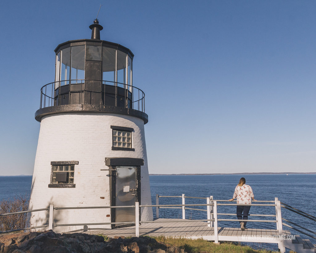 Owls Head Lighthouse | This New England road trip itinerary will take you on the scenic route from Boston to Portland, Mid Coast Maine and Acadia National Park. | My Wandering Voyage #Boston #Portland #Maine #travel