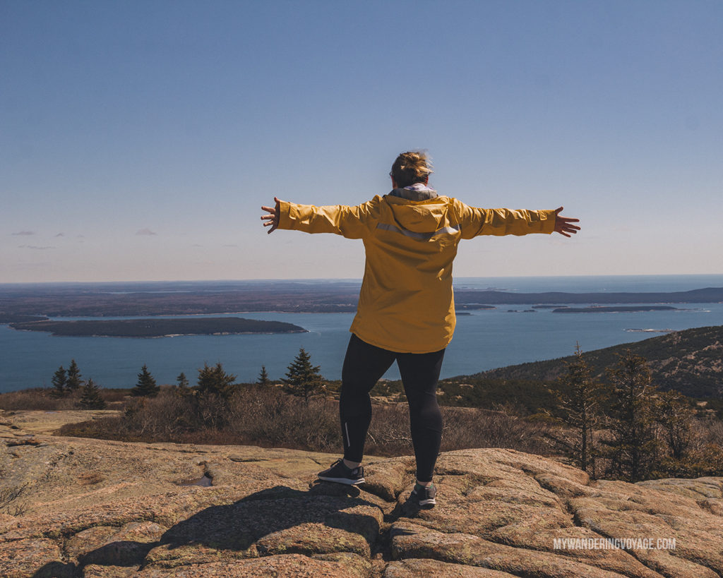 Cadillac Mountain Acadia National Park | This New England road trip itinerary will take you on the scenic route from Boston to Portland, Mid Coast Maine and Acadia National Park. | My Wandering Voyage #Boston #Portland #Maine #travel