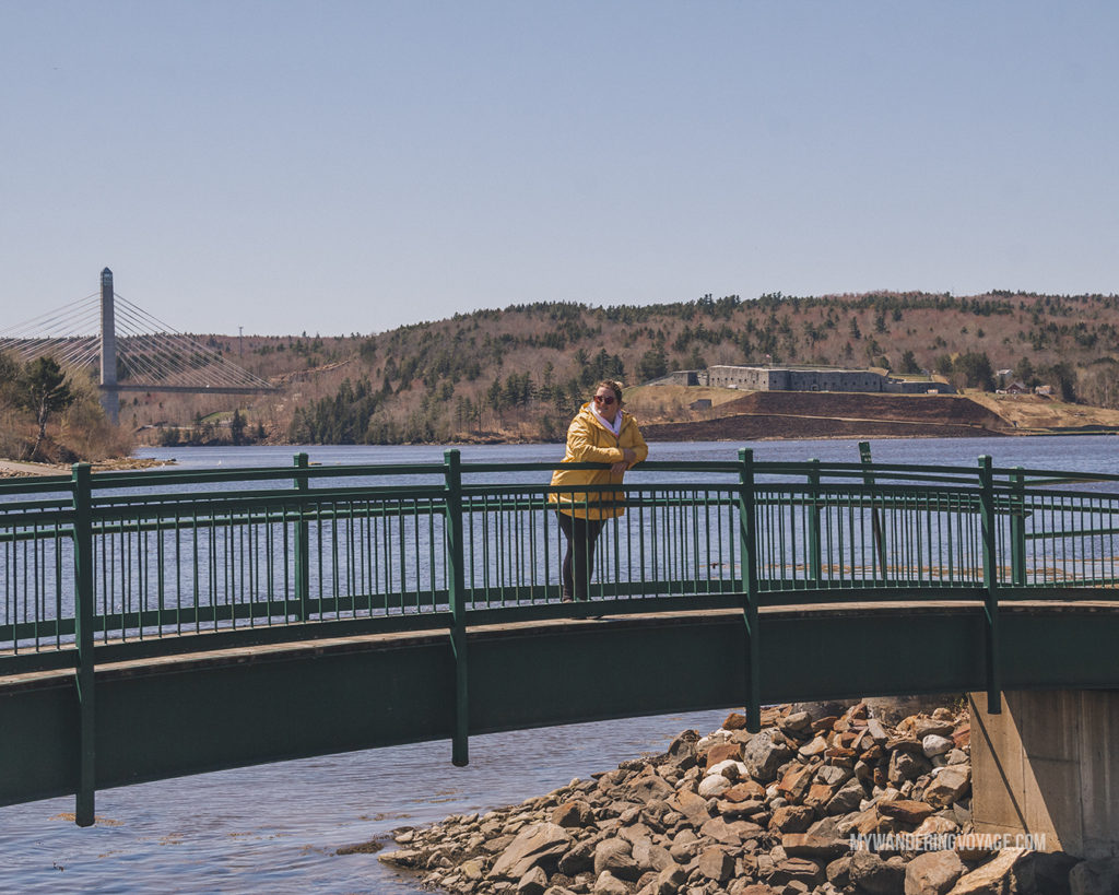 Penobscot Bridge and For Knox, Maine   This New England road trip itinerary will take you on the scenic route from Boston to Portland, Mid Coast Maine and Acadia National Park.   My Wandering Voyage #Boston #Portland #Maine #travel