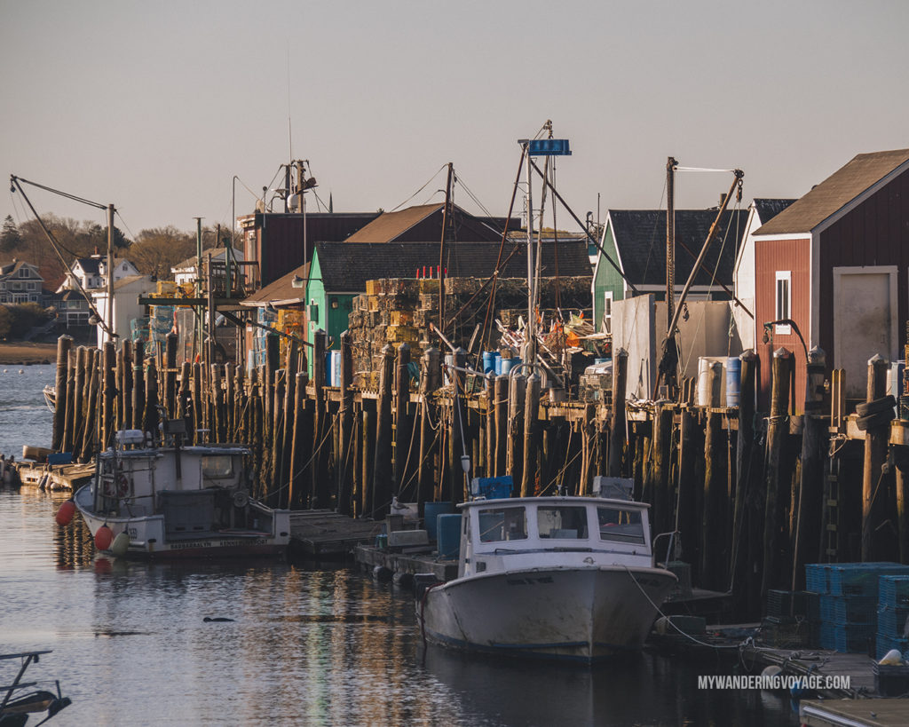 Portland Historic Waterfront District | This New England road trip itinerary will take you on the scenic route from Boston to Portland, Mid Coast Maine and Acadia National Park. | My Wandering Voyage #Boston #Portland #Maine #travel