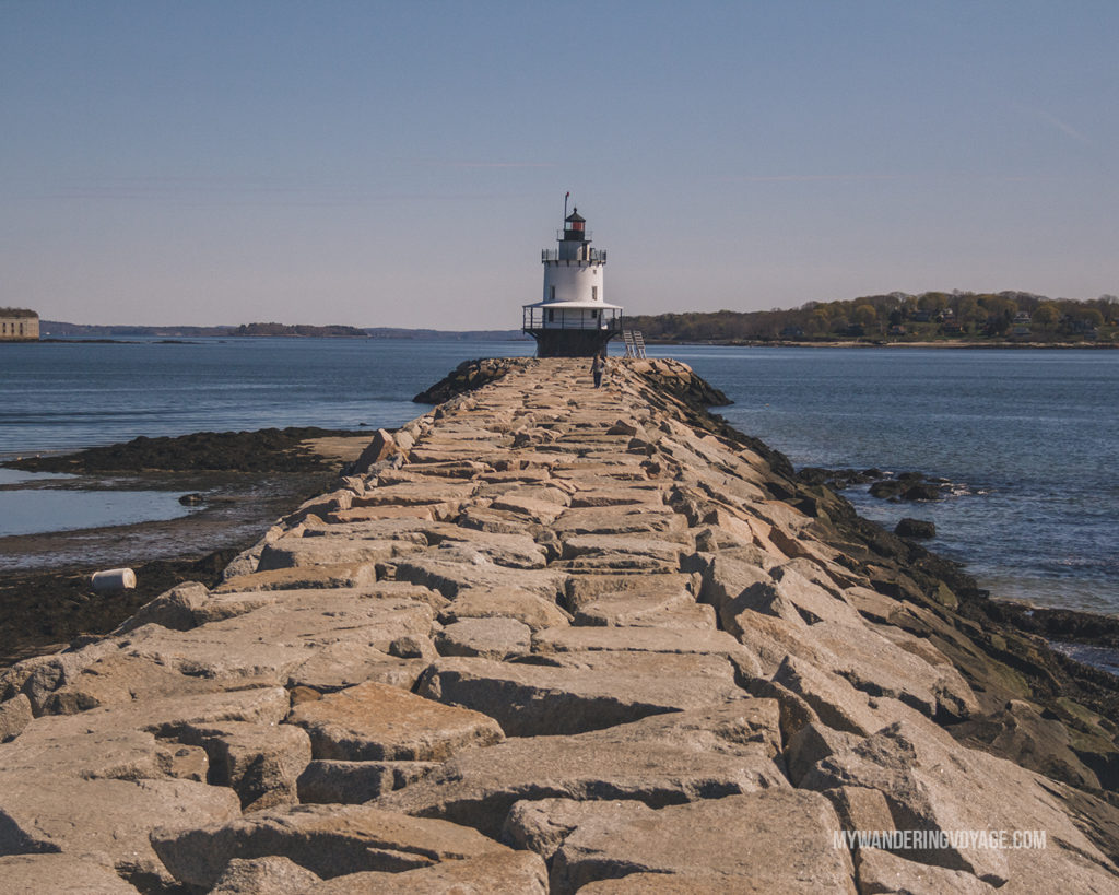 Spring Point Lighthouse, Portland | This New England road trip itinerary will take you on the scenic route from Boston to Portland, Mid Coast Maine and Acadia National Park. | My Wandering Voyage  #Boston #Portland #Maine #travel