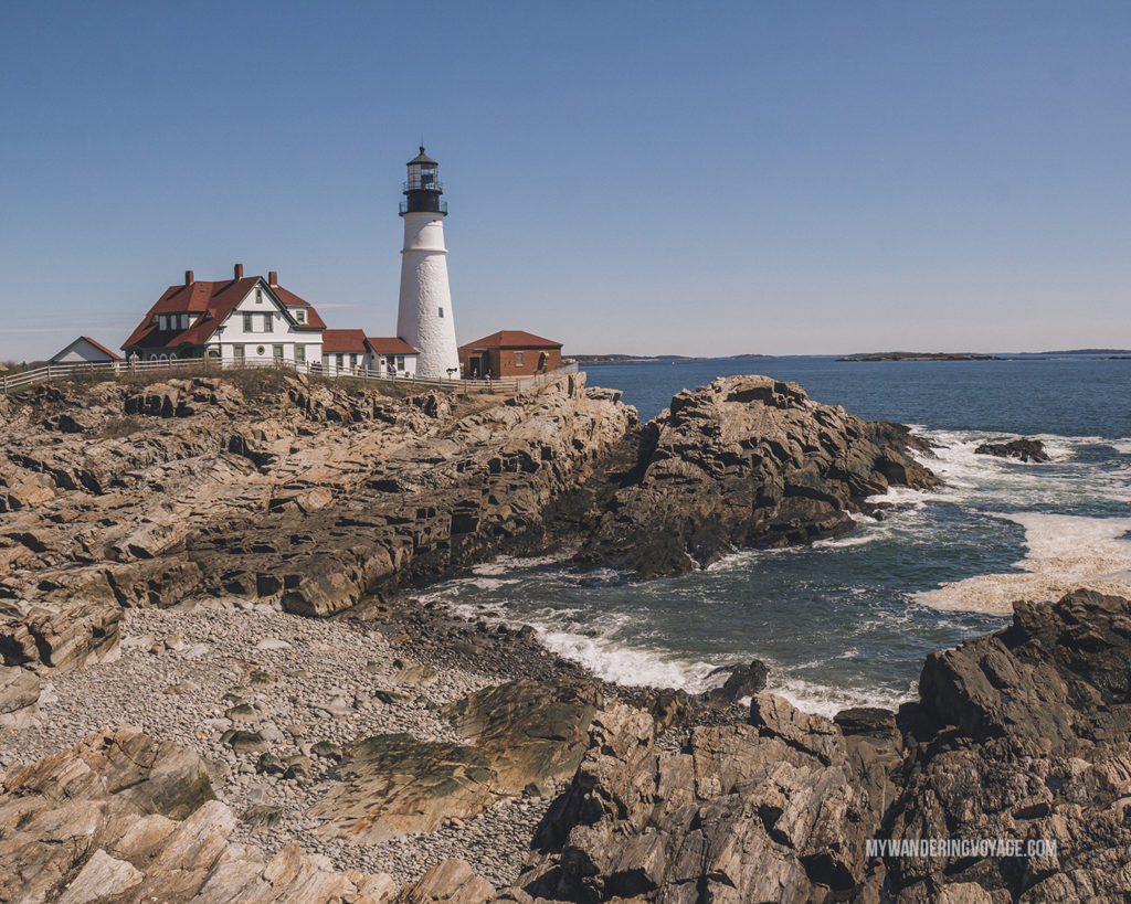 Portland Head Lighthouse | This New England road trip itinerary will take you on the scenic route from Boston to Portland, Mid Coast Maine and Acadia National Park. | My Wandering Voyage #Boston #Portland #Maine #travel