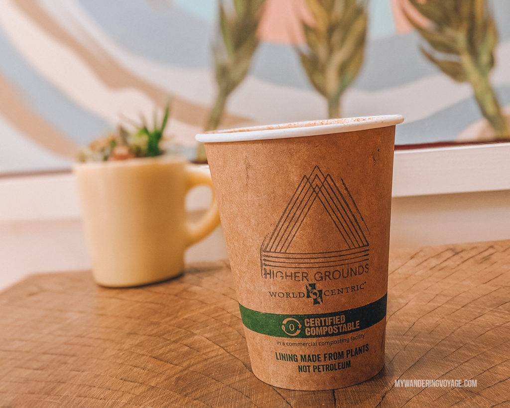 Higher Grounds Coffee, Portland | This New England road trip itinerary will take you on the scenic route from Boston to Portland, Mid Coast Maine and Acadia National Park. | My Wandering Voyage #Boston #Portland #Maine #travel
