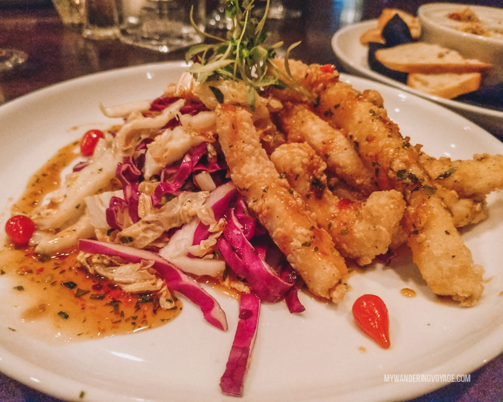 BlueFin Calamari Fries | Grab your best gal pals or significant other for the ultimate weekend getaway in Portland, Maine. Find where to stay, what to eat and things to do in this guide to Portland, Maine. | My Wandering Voyage travel blog #Portland #Maine #USA #travel