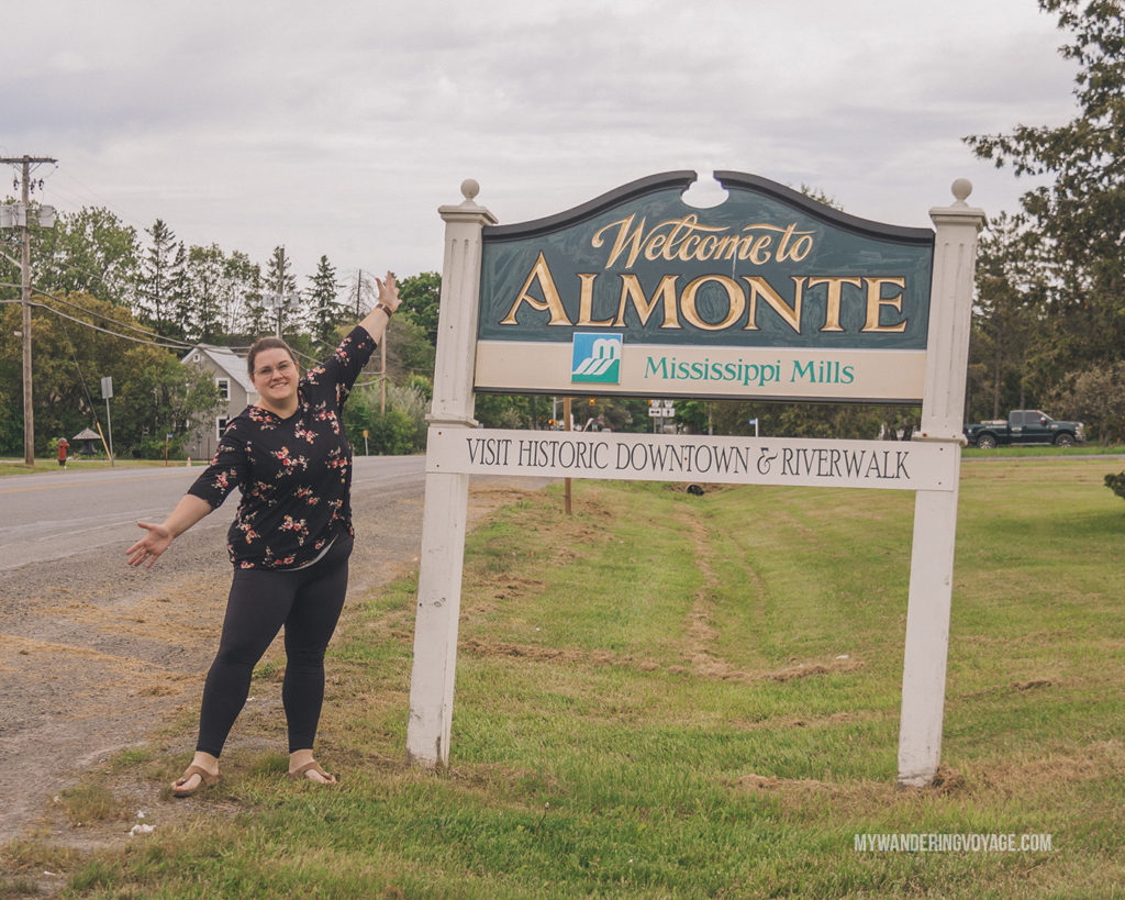 Welcome to Almonte, Ontario sign