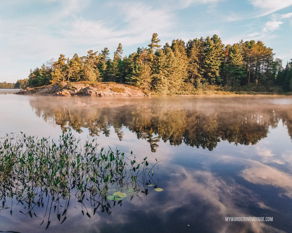 Grundy Lake Provincial Park - best Ontario Parks to visit in the fall