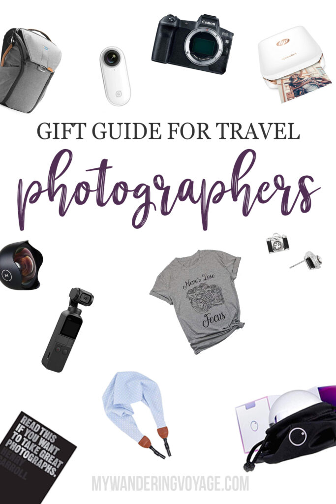 Travel photographers are the easiest group of people to buy a gift for, but there are so many options to choose from! That's why I've put together this handy guide of gifts for travel photographers. #travel #photography #travelphotography #giftguide