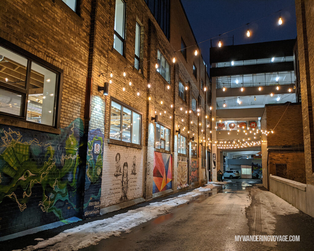 Kitchener alley in Winter