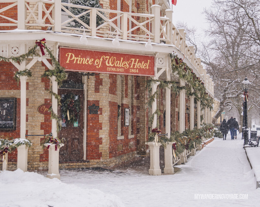 Prince of Wales Hotel Niagara on the Lake winter