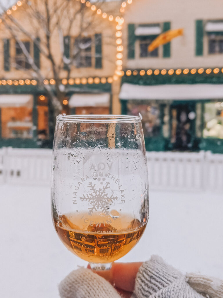 Icewine in a glass Niagara Icewine Festival Niagara on the Lake winter