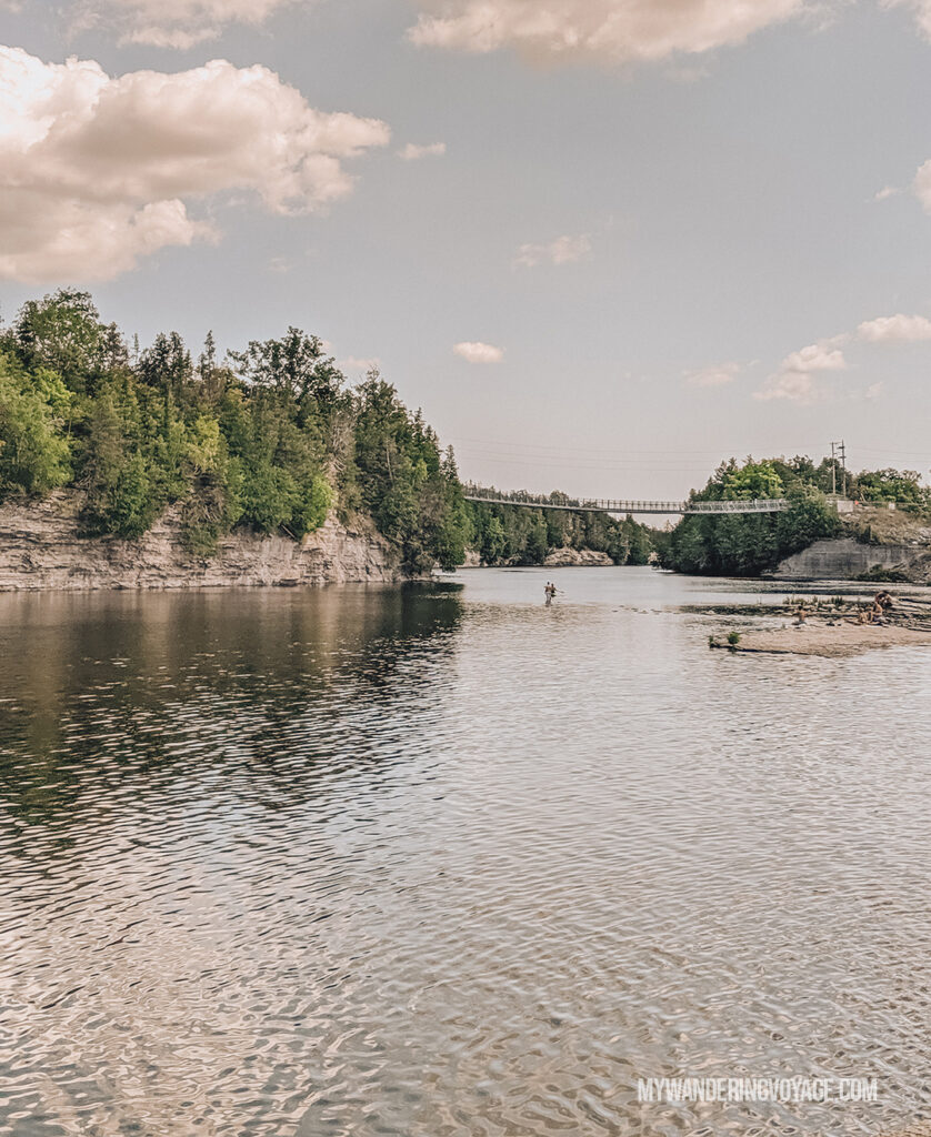 Ferris Provincial Park suspension bridge | Best scenic bridges in Ontario | My Wandering Voyage travel blog