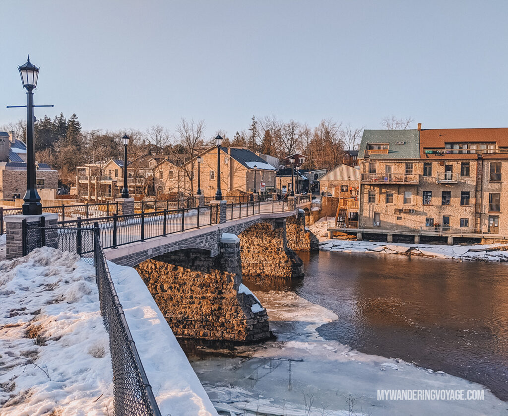 Victoria Street Pedestrian Bridge in Elora | Best scenic bridges in Ontario you have to visit | My Wandering Voyage travel blog