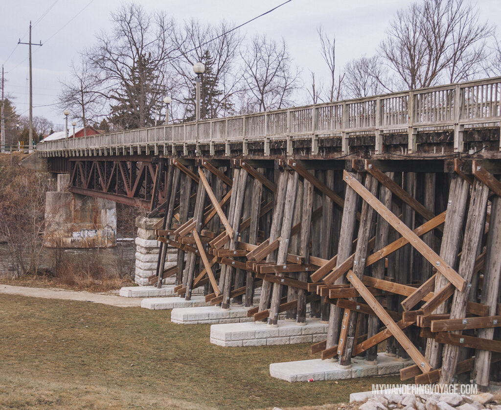 historic trestle bridge in Thornbury | Best scenic bridges in Ontario you have to visit | My Wandering Voyage travel blog
