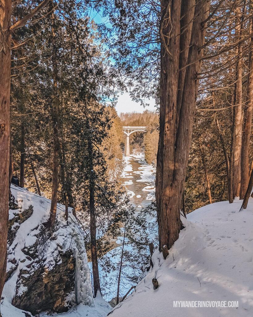 Elora Gorge Lookout | 25 best scenic lookouts in Ontario | My Wandering Voyage travel blog