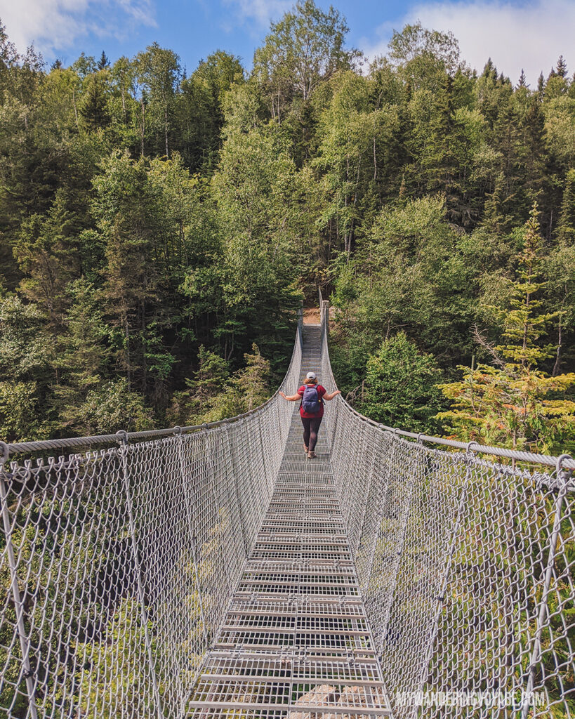 White River Suspension Bridge in Pukaskwa National Park | Best scenic bridges in Ontario you have to visit | My Wandering Voyage travel blog