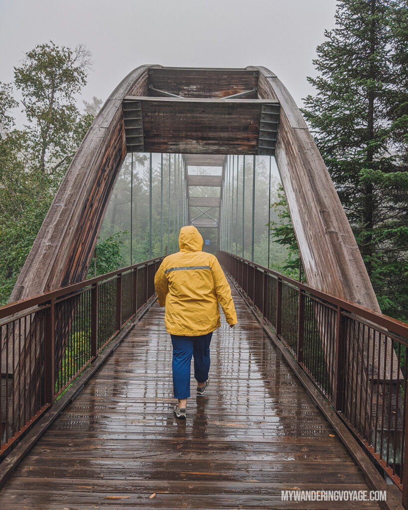 Quimet Canyon bridge to the lookout | Best scenic bridges in Ontario you have to visit | My Wandering Voyage travel blog