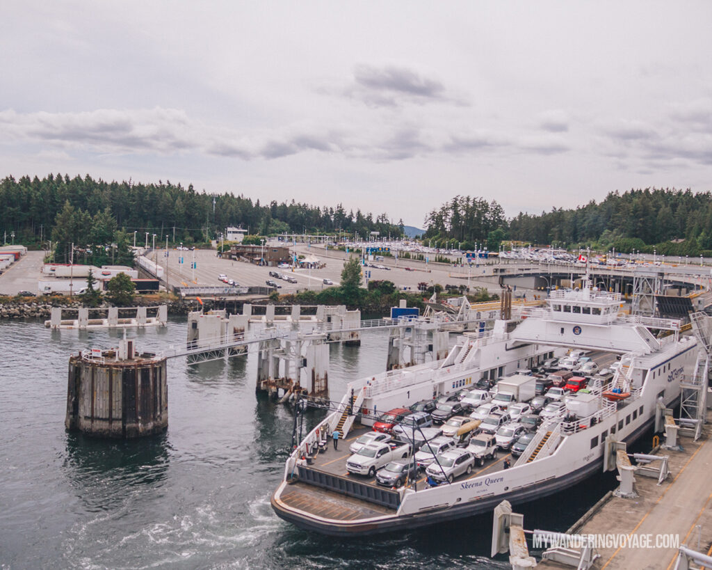 BC Ferries back to mainland | Vancouver Island road trip 5 day itinerary | My Wandering Voyage