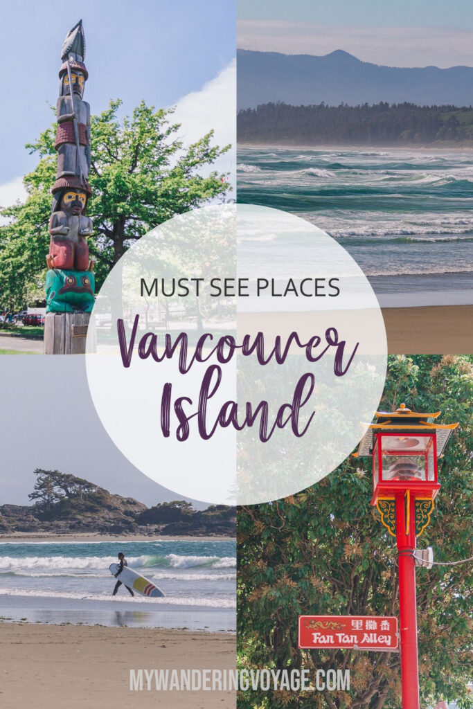 From mountains to forests to beaches and the ocean, Vancouver Island has it all. Use this 5 day itinerary for a Vancouver Island road to find the must see places on Canada's west coast. | My Wandering Voyage travel blog #VancouverIsland #BritishColumbia #Canada #Travel