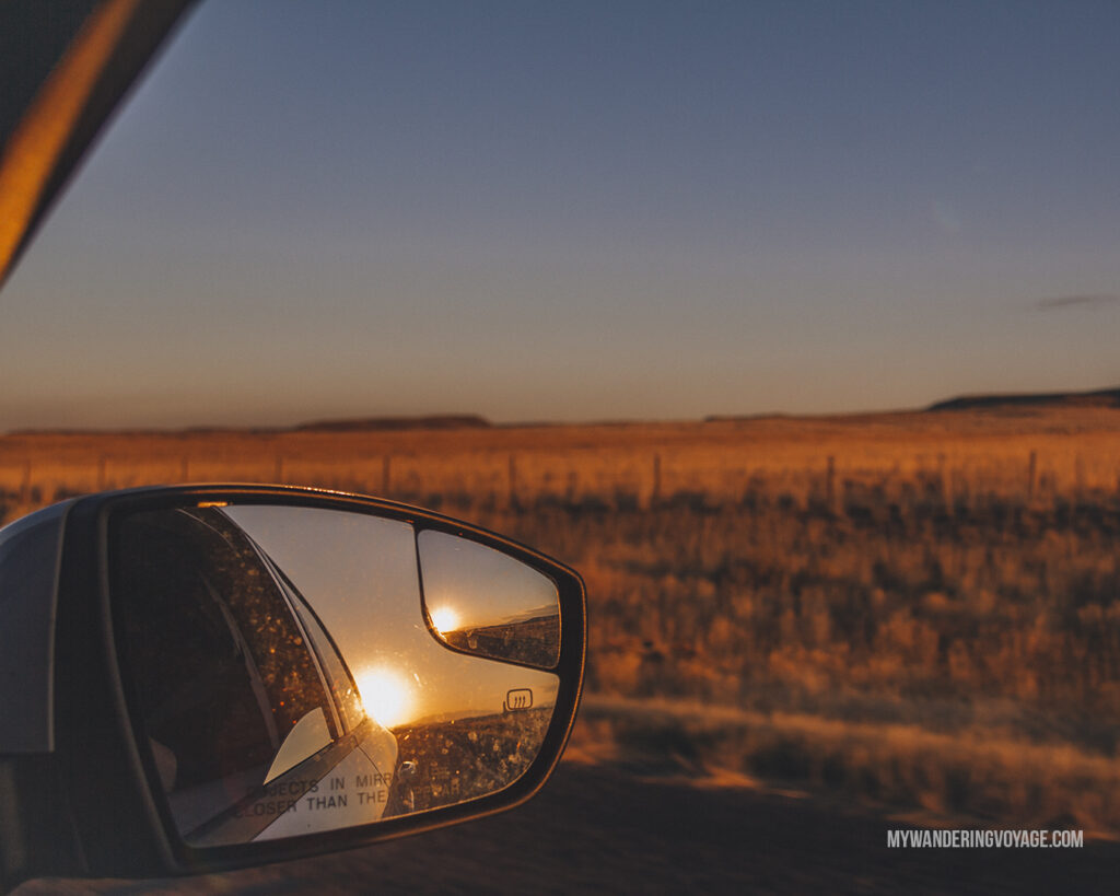 sunsets are always great on a road trip | Road trip tips: What you need to know about taking a cross-country road trip | My Wandering Voyage travel blog #Travel #RoadTrip #Canada #USA
