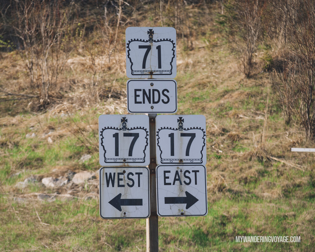 Signs signs signs | Road trip tips: What you need to know about taking a cross-country road trip | My Wandering Voyage travel blog #Travel #RoadTrip #Canada #USA