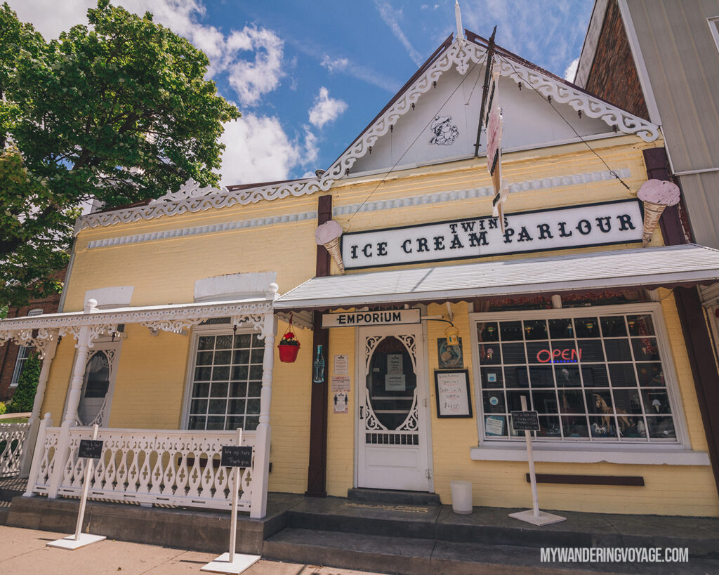 Ice Cream Parlour in Port Rowan | Discover Ontario's Garden: Relaxing things to do in Norfolk County | My Wandering Voyage travel blog