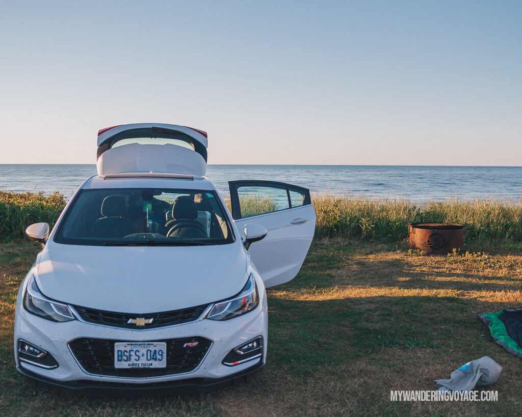 Camp with a view at Price Edward Island National Park | Beginners guide to camping + camping essentials | My Wandering Voyage travel blog