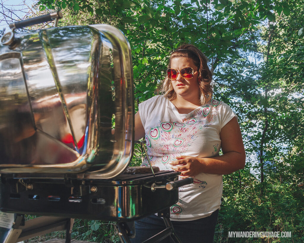 Cooking over the grill | Beginners guide to camping + camping essentials | My Wandering Voyage travel blog