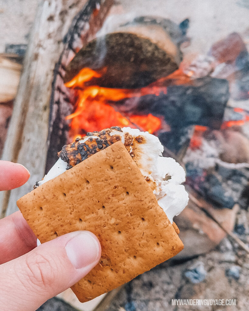 S'mores | Beginners guide to camping + camping essentials | My Wandering Voyage travel blog