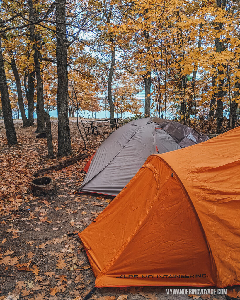 Camping during the Fall | Beginners guide to camping + camping essentials | My Wandering Voyage travel blog
