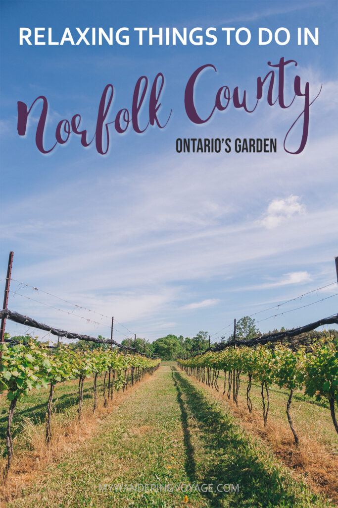 Norfolk County is a slice of forests, farmland and beaches in Southern Ontario. There are so many relaxing things to do in Norfolk County, so take a day trip to Ontario's Garden. | My Wandering Voyage travel blog #travel #Ontario #daytrips