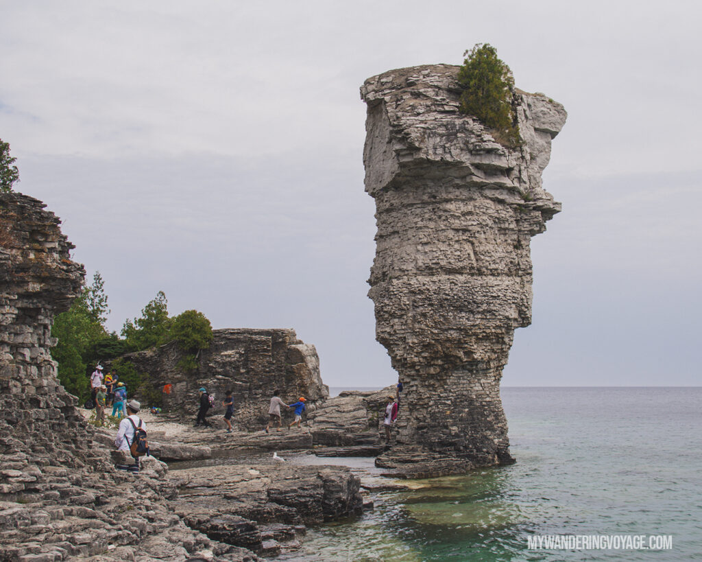 Flowerpot Island at Fathom Five National Marine Park | The Ultimate Guide to National Parks in Ontario | My Wandering Voyage travel blog #travel #Ontario #Canada #BrucePeninsula #ThousandIslands #camping