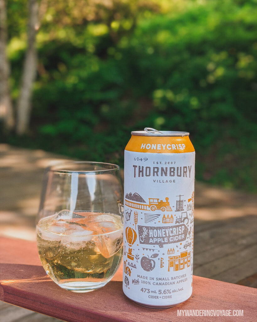 Thornbury Village Craft Cider | | Ontario Cider: Take a self-guided Georgian Bay cider tour | My Wandering Voyage travel blog #Ontario #Cider #GeorgianBay #daytrip