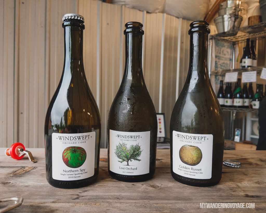 Windsweft Orchards | | Ontario Cider: Take a self-guided Georgian Bay cider tour | My Wandering Voyage travel blog #Ontario #Cider #GeorgianBay #daytrip