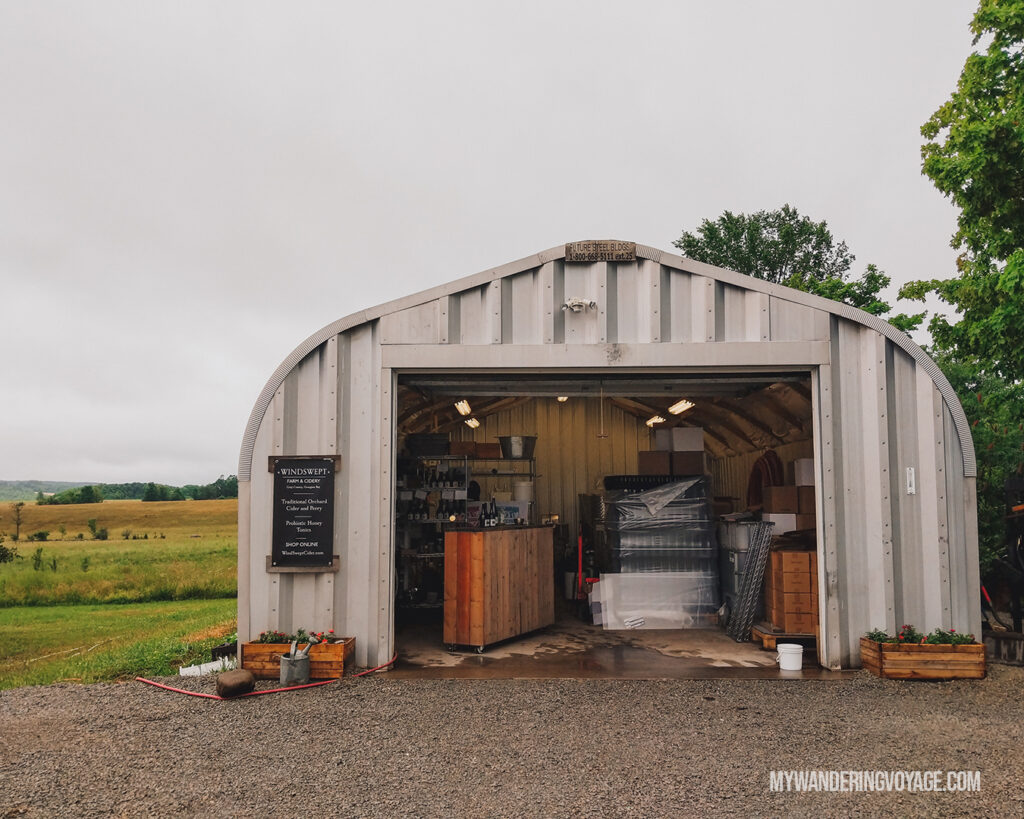 Windswept Orchards | | Ontario Cider: Take a self-guided Georgian Bay cider tour | My Wandering Voyage travel blog #Ontario #Cider #GeorgianBay #daytrip