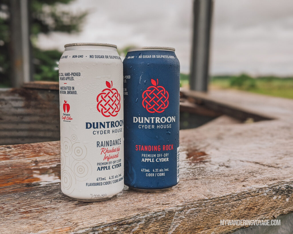 Duntroon Cider | Ontario Cider: Take a self-guided Georgian Bay cider tour | My Wandering Voyage travel blog #Ontario #Cider #GeorgianBay #daytrip