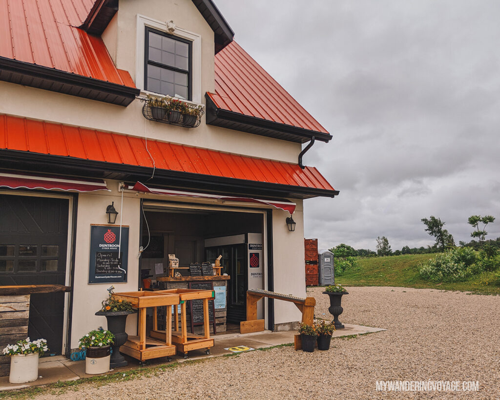 Duntroon Cyder House | Ontario Cider: Take a self-guided Georgian Bay cider tour | My Wandering Voyage travel blog #Ontario #Cider #GeorgianBay #daytrip