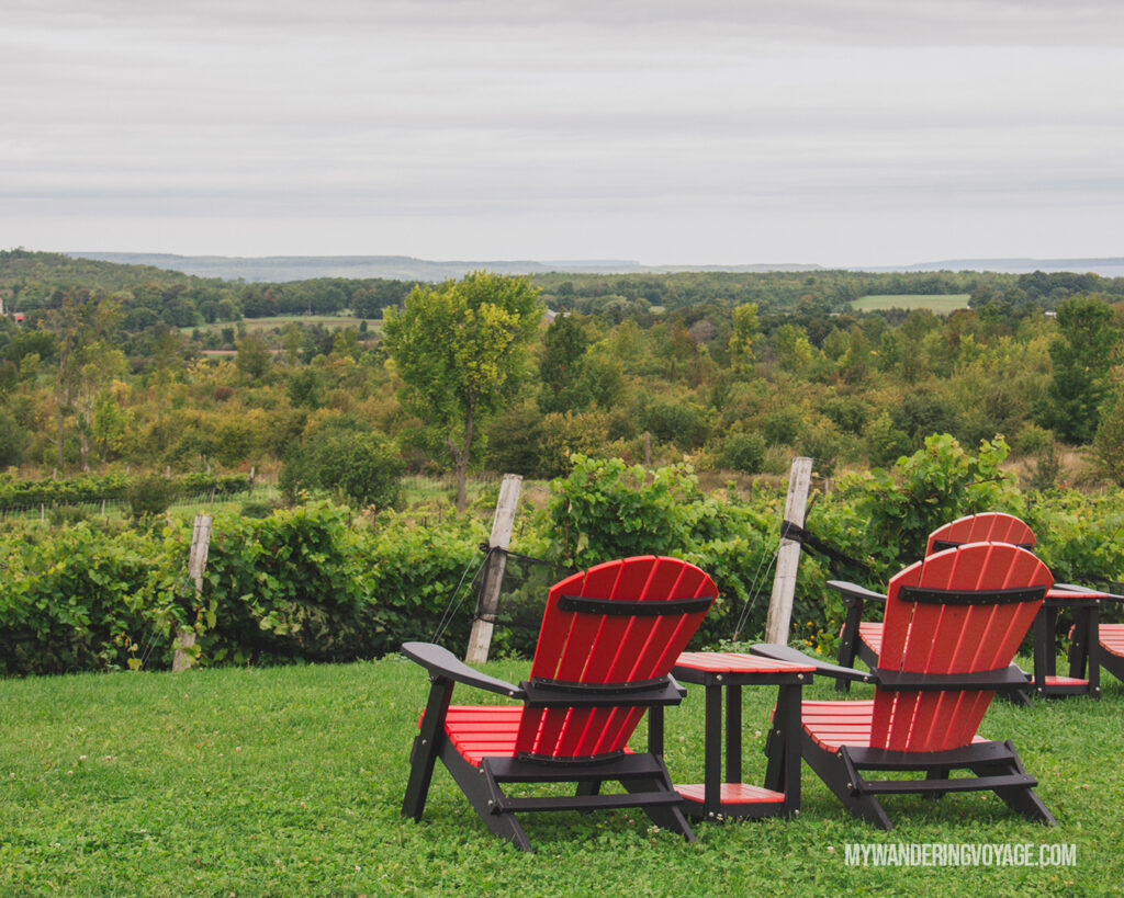 Coffin Ridge Winery | Ontario Cider: Take a self-guided Georgian Bay cider tour | My Wandering Voyage travel blog #Ontario #Cider #GeorgianBay #daytrip