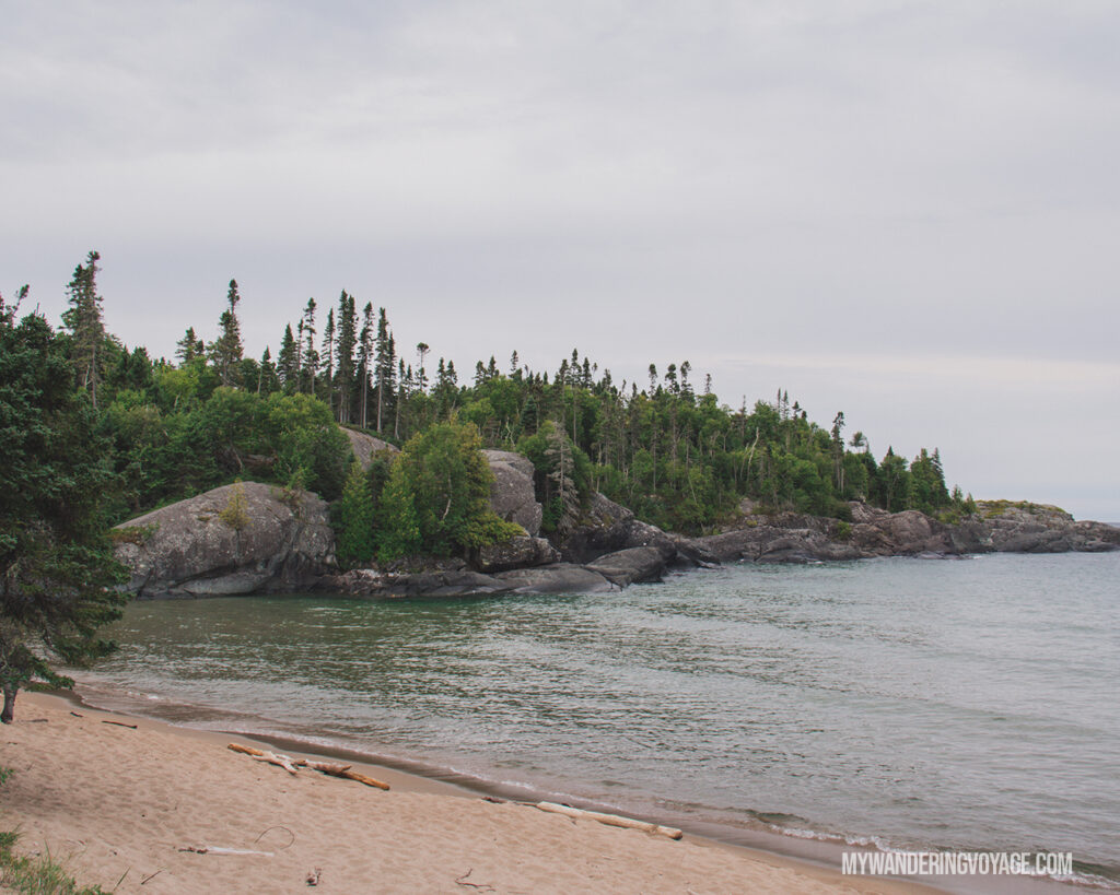 Horseshoe Bay at Pukaskwa National Park | The Ultimate Guide to National Parks in Ontario | My Wandering Voyage travel blog #travel #Ontario #Canada #BrucePeninsula #ThousandIslands #camping
